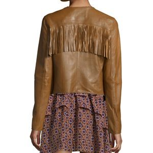 Derek Lam | Lamb Leather Fringe Jacket 0 2